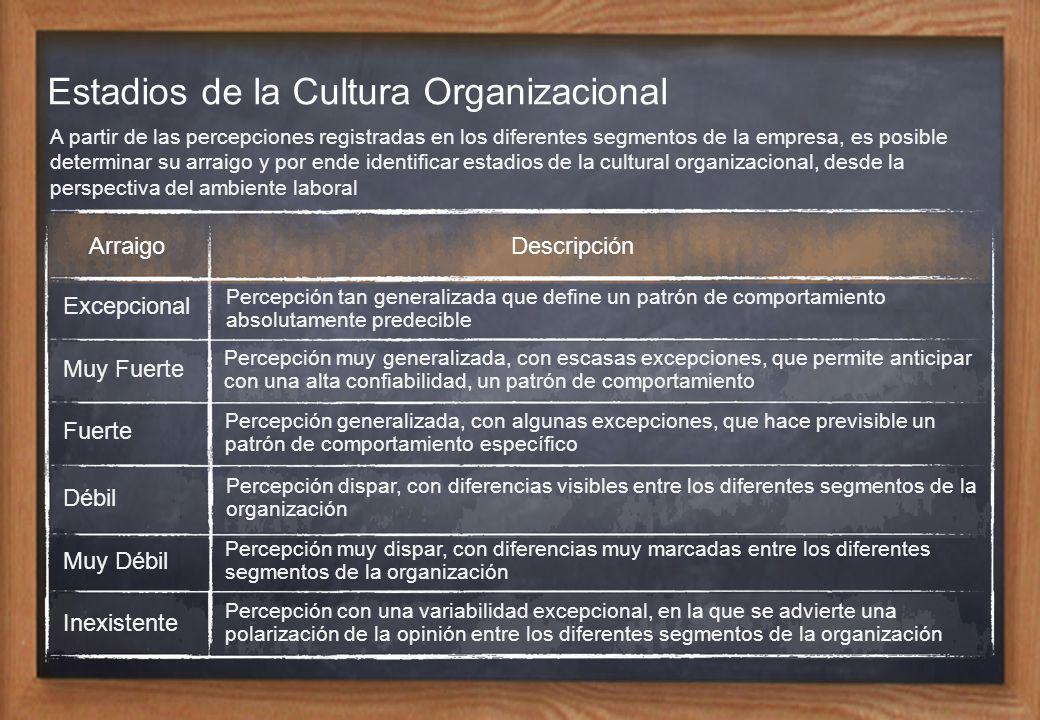 Estadios de la Cultura Organizacional