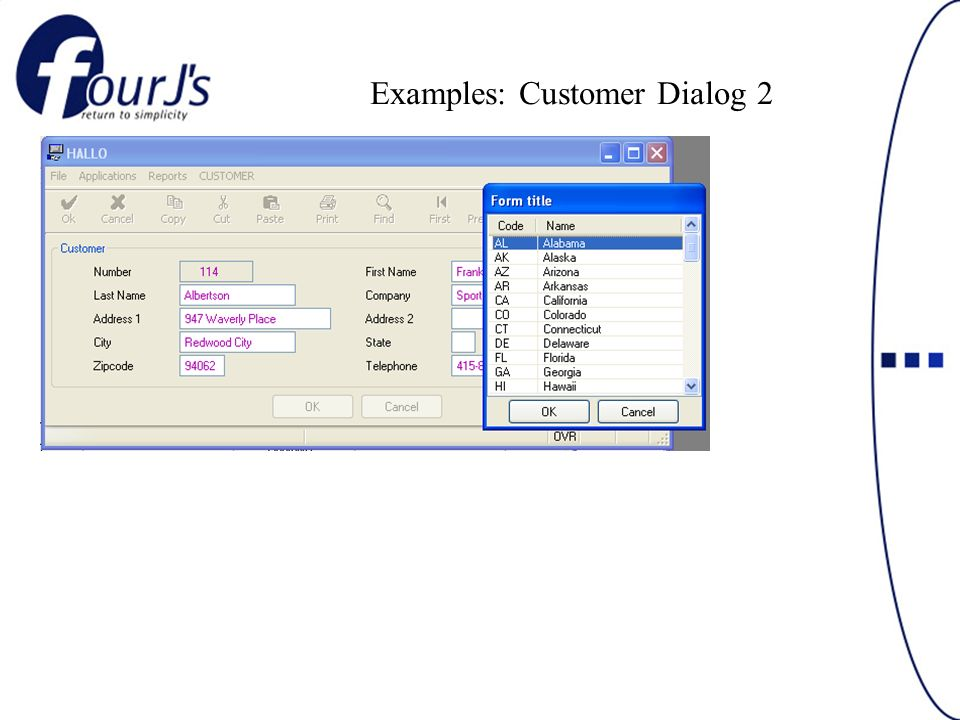 Examples: Customer Dialog 2