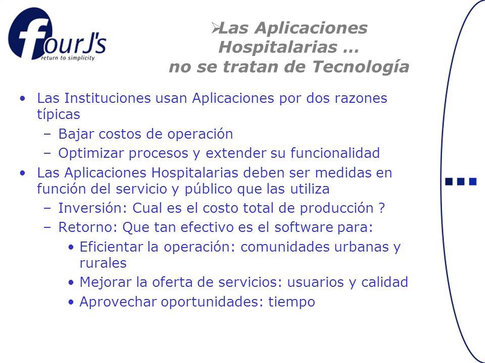 Las Aplicaciones Hospitalarias … no se tratan de Tecnología