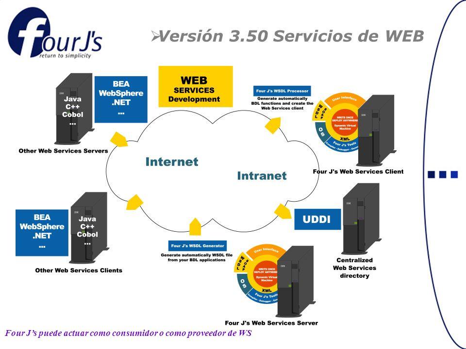 Versión 3.50 Servicios de WEB