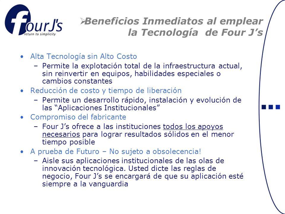 Beneficios Inmediatos al emplear la Tecnología de Four J's