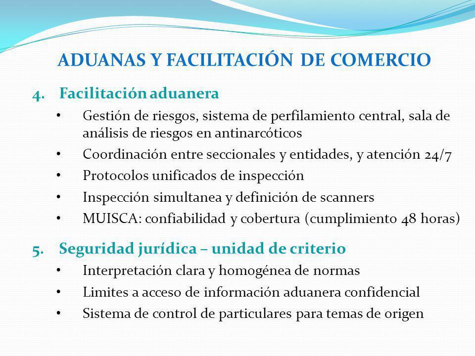 ADUANAS Y FACILITACIÓN DE COMERCIO