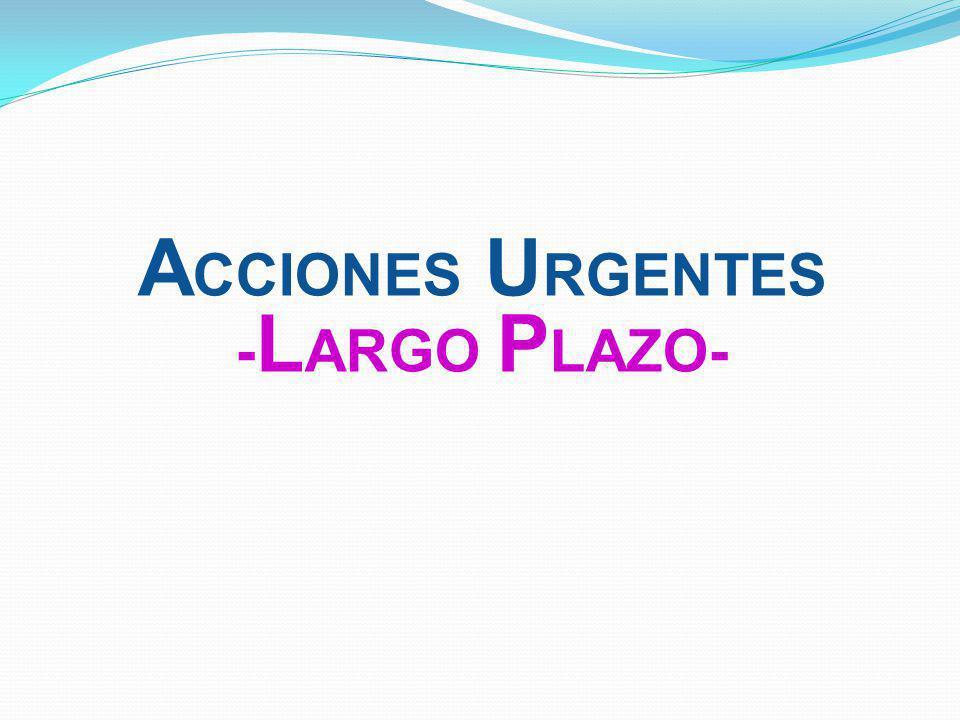 Acciones urgentes -LARGO PLAZO-