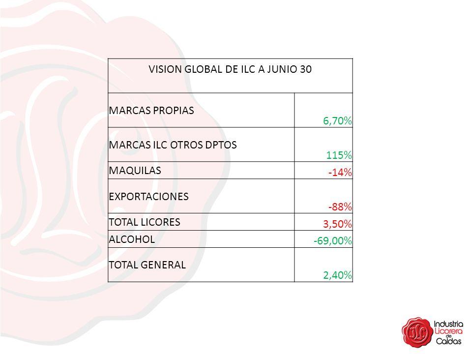 VISION GLOBAL DE ILC A JUNIO 30