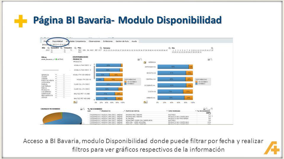 Página BI Bavaria- Modulo Disponibilidad