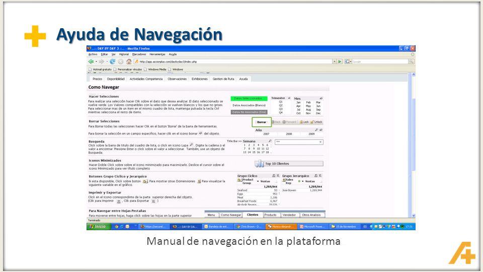 Manual de navegación en la plataforma