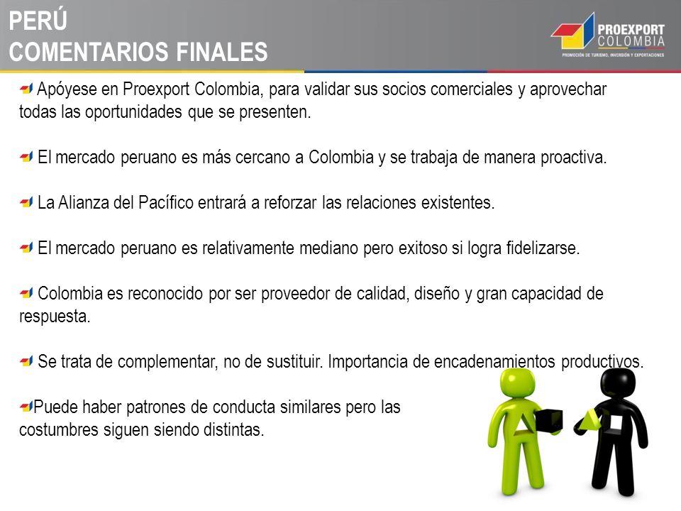 PERÚ COMENTARIOS FINALES