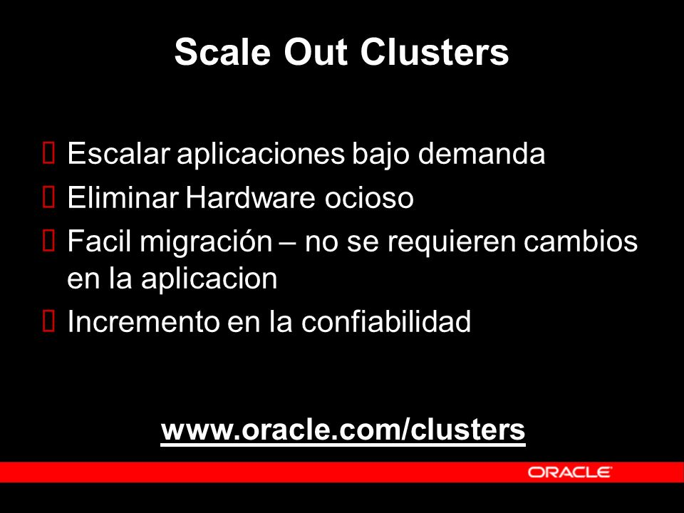 Scale Out Clusters Escalar aplicaciones bajo demanda