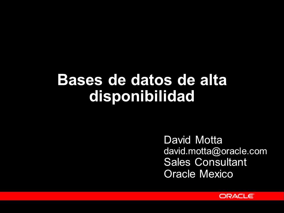 Bases de datos de alta disponibilidad