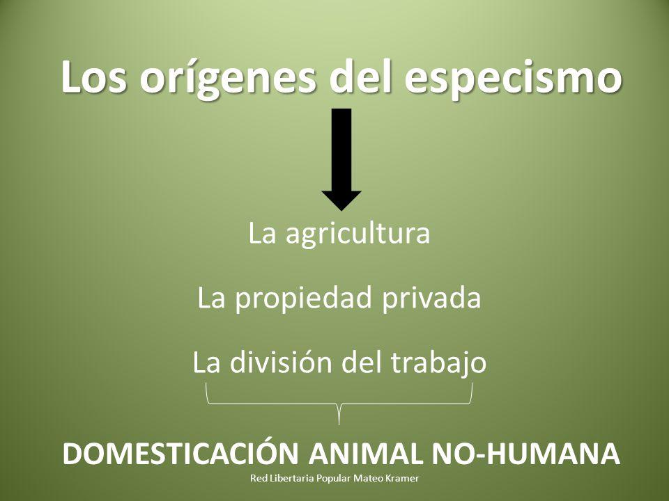 Los orígenes del especismo DOMESTICACIÓN ANIMAL NO-HUMANA