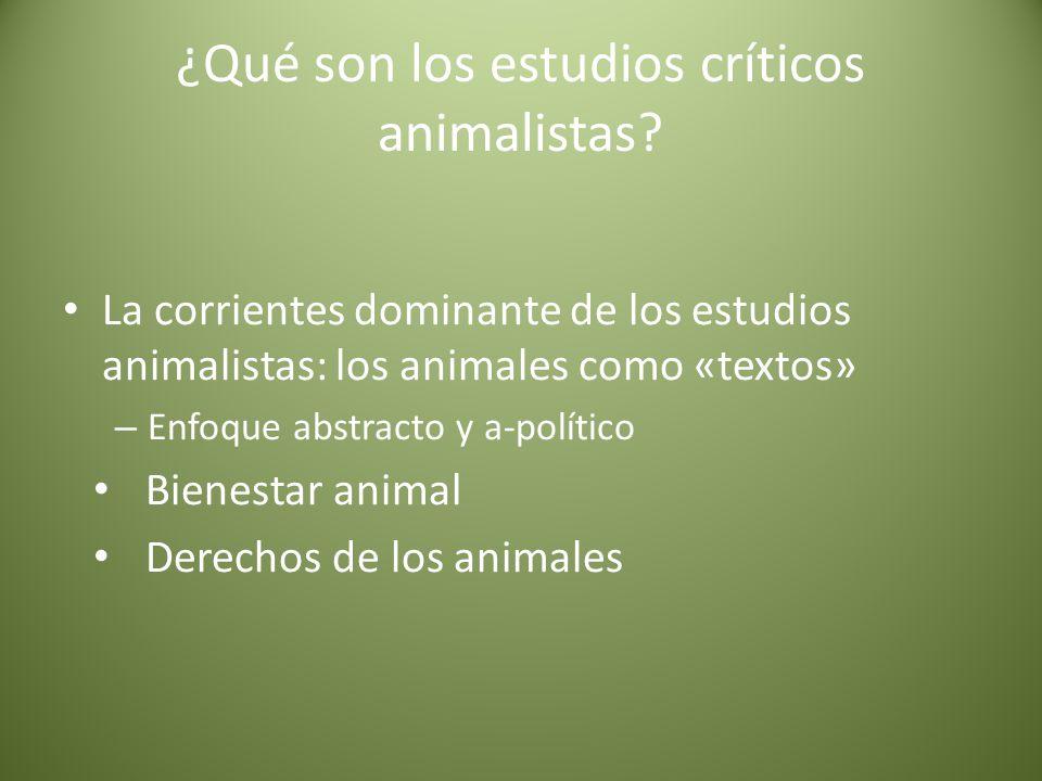 ¿Qué son los estudios críticos animalistas