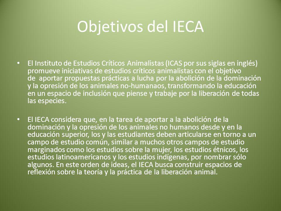 Objetivos del IECA
