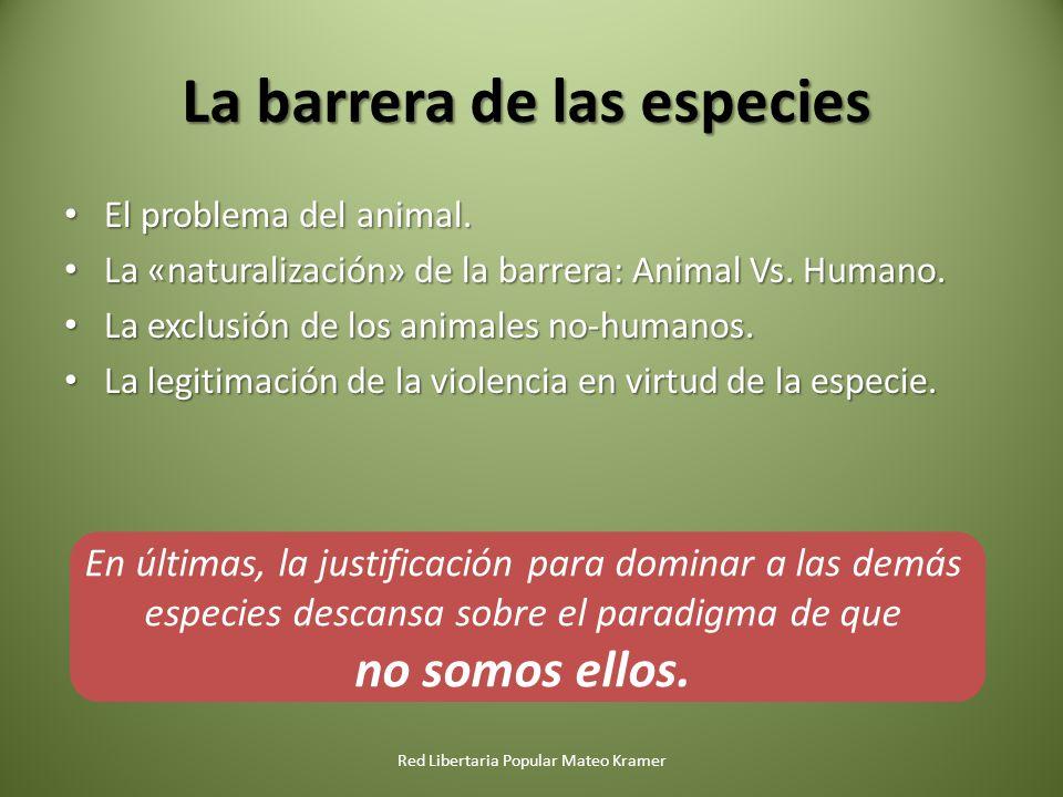 La barrera de las especies