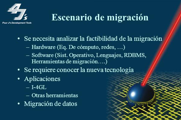 Escenario de migración