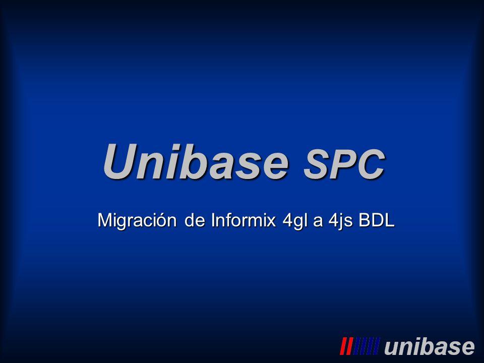 Migración de Informix 4gl a 4js BDL