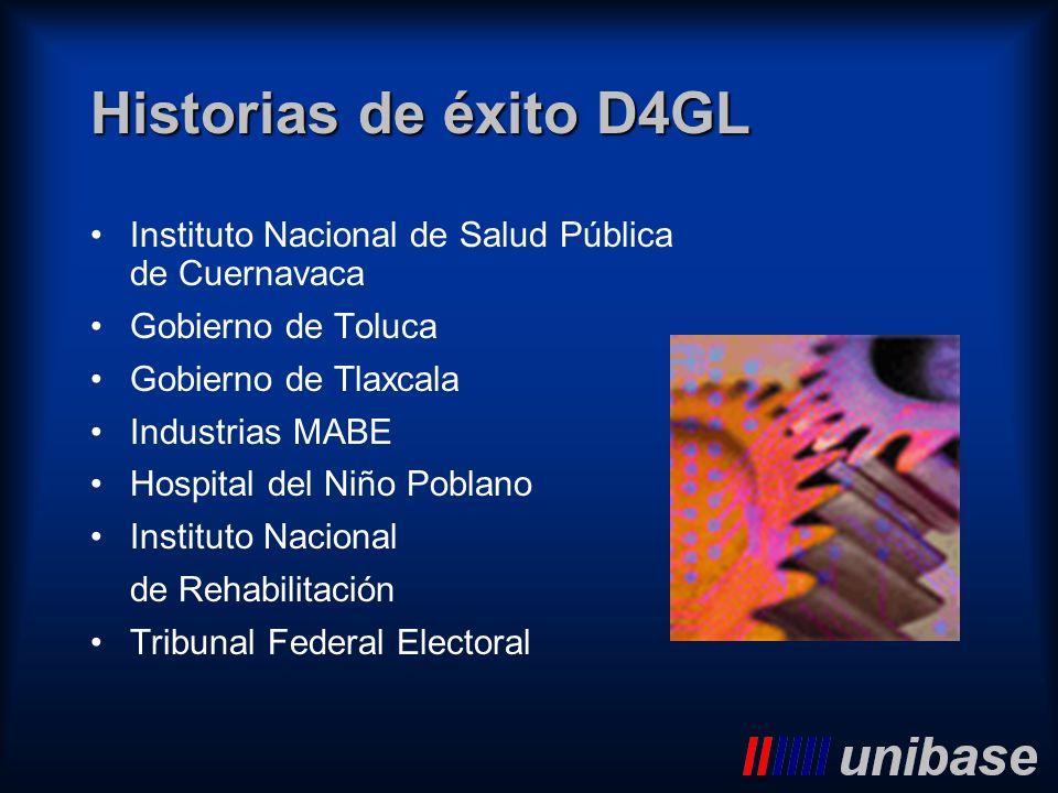 Historias de éxito D4GL Instituto Nacional de Salud Pública de Cuernavaca. Gobierno de Toluca. Gobierno de Tlaxcala.