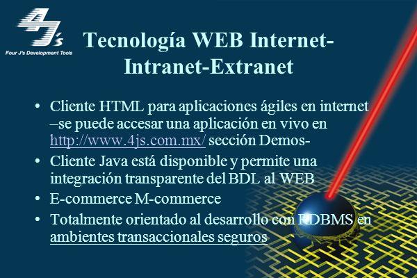 Tecnología WEB Internet-Intranet-Extranet