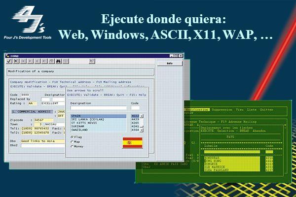 Ejecute donde quiera: Web, Windows, ASCII, X11, WAP, …
