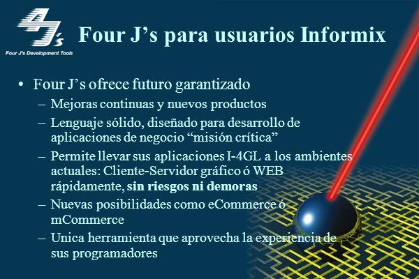 Four J's para usuarios Informix