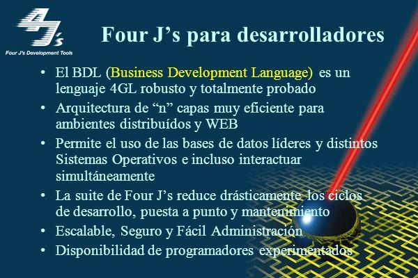 Four J's para desarrolladores