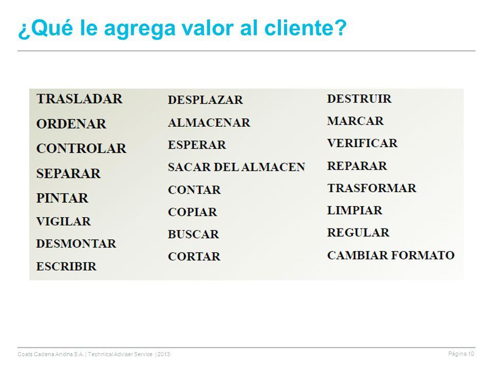 ¿Qué le agrega valor al cliente