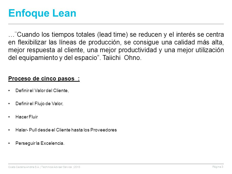 Enfoque Lean