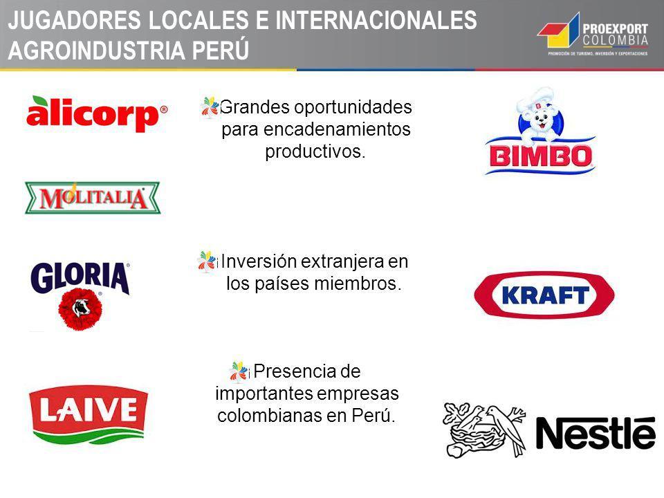 JUGADORES LOCALES E INTERNACIONALES AGROINDUSTRIA PERÚ