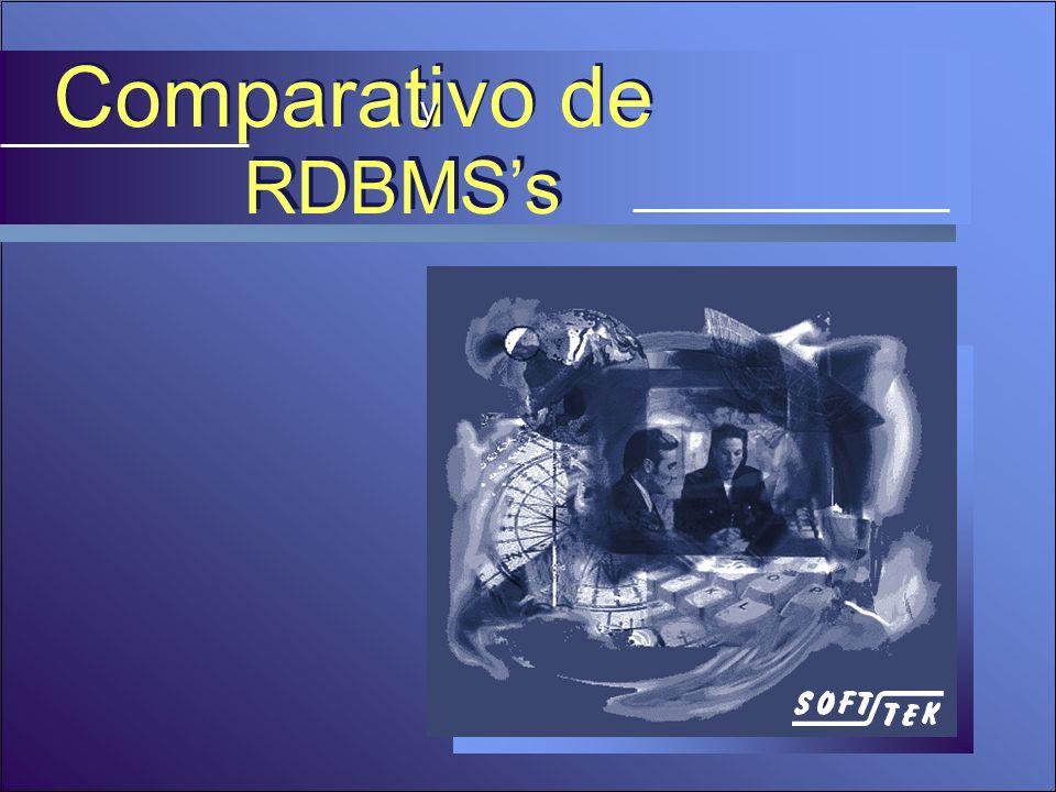 Comparativo de y RDBMS's