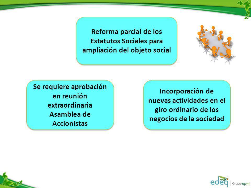 Reforma parcial de los Estatutos Sociales para ampliación del objeto social