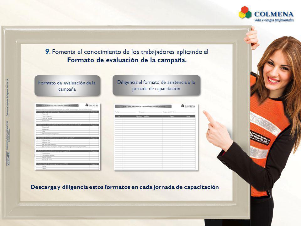 Formato de evaluación de la campaña.