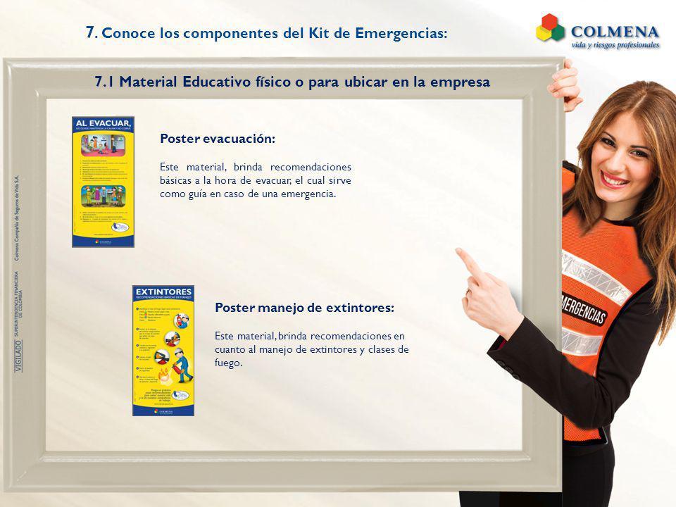 7. Conoce los componentes del Kit de Emergencias: