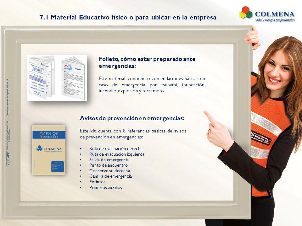 7.1 Material Educativo físico o para ubicar en la empresa