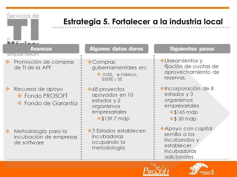 Estrategia 5. Fortalecer a la industria local