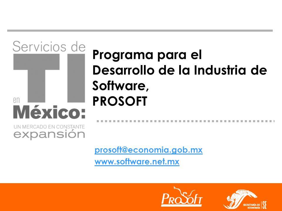 Programa para el Desarrollo de la Industria de Software, PROSOFT