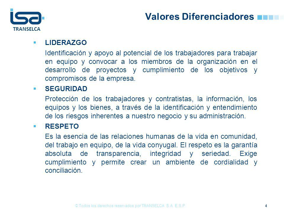Valores Diferenciadores