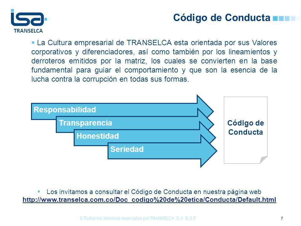 Código de Conducta Responsabilidad Transparencia Honestidad Seriedad