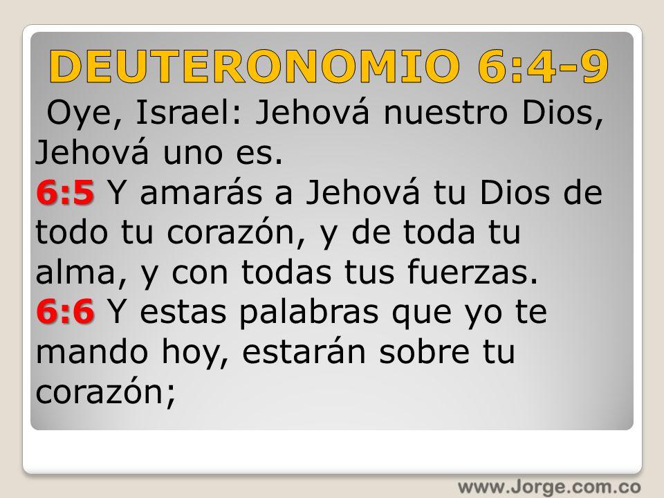 DEUTERONOMIO 6:4-9