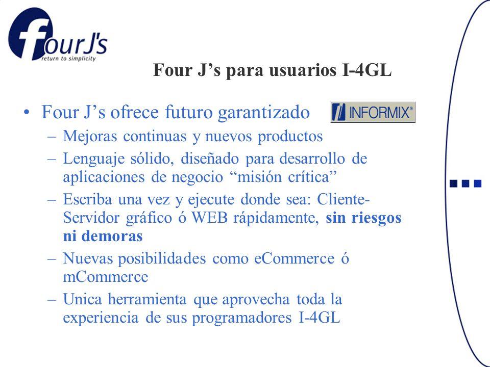 Four J's para usuarios I-4GL