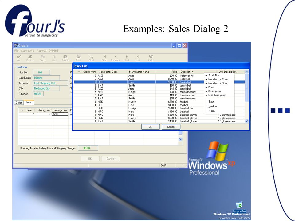 Examples: Sales Dialog 2