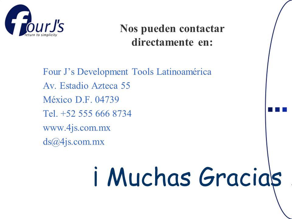 Nos pueden contactar directamente en: