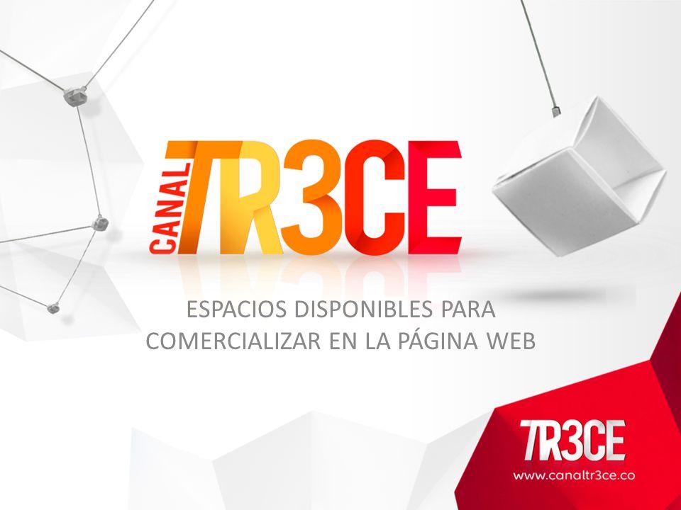 ESPACIOS DISPONIBLES PARA COMERCIALIZAR EN LA PÁGINA WEB
