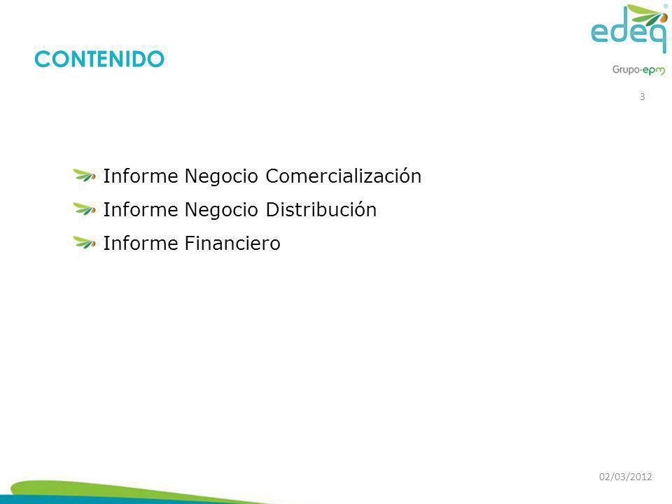 CONTENIDO Informe Negocio Comercialización
