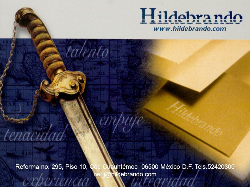 Reforma no. 295, Piso 10, Col. Cuauhtémoc 06500 México D. F. Tels