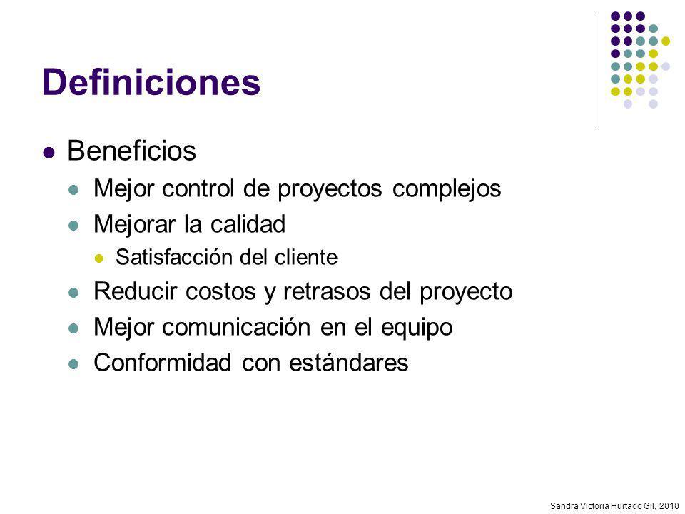 Definiciones Beneficios Mejor control de proyectos complejos