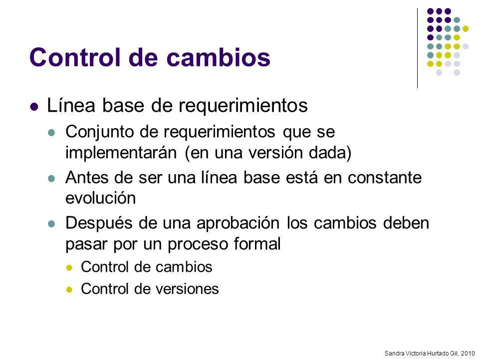 Control de cambios Línea base de requerimientos