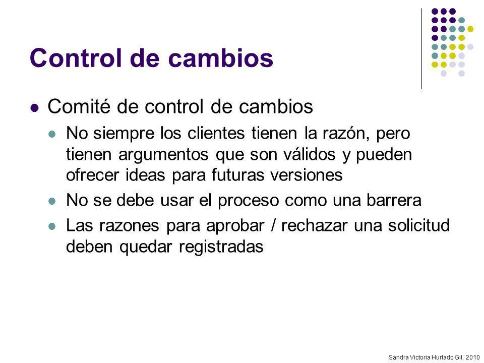 Control de cambios Comité de control de cambios