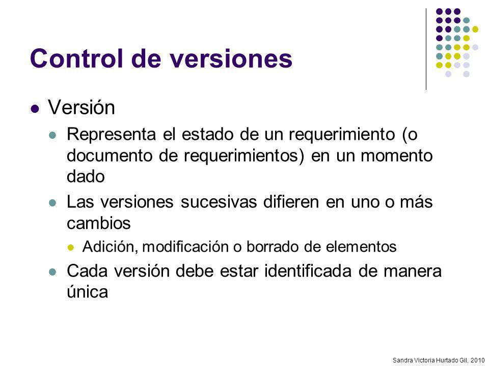 Control de versiones Versión