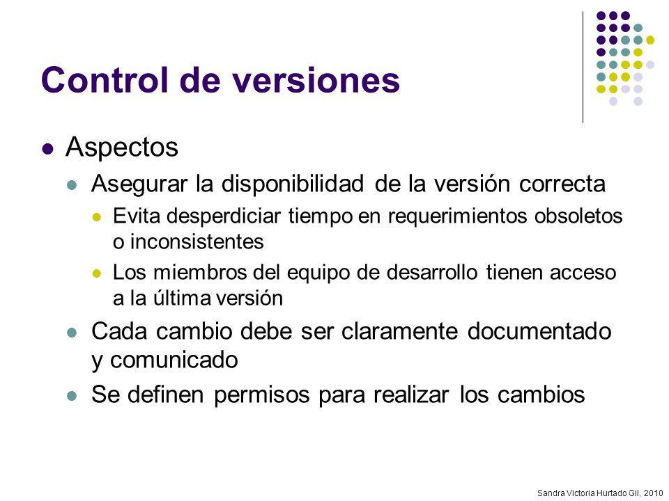 Control de versiones Aspectos