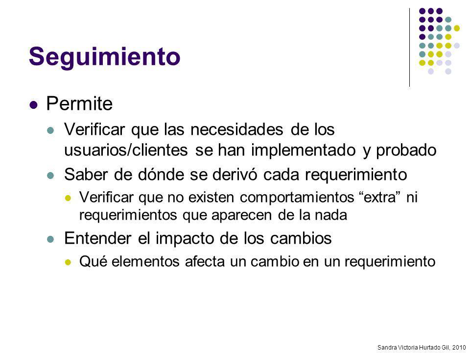 Seguimiento Permite. Verificar que las necesidades de los usuarios/clientes se han implementado y probado.