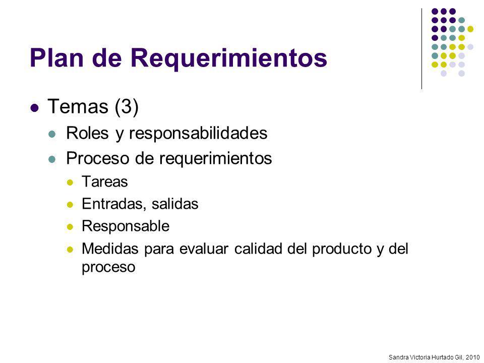 Plan de Requerimientos